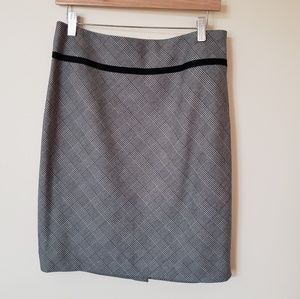 Black plaid skirt by The Limited